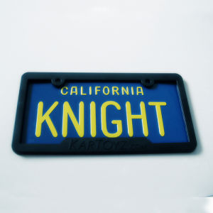Custom Printed Promotional License Plate with Logo Relief pictures & photos