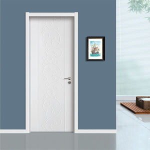 Solid Wooden Doors with Veneer Painting for Residential Home pictures & photos