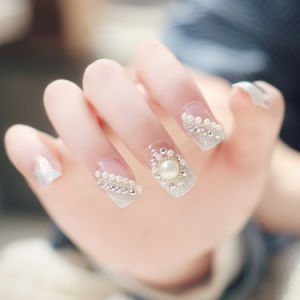 Nail Art for Nail Decoration with Crystal and Flowers Nail Art pictures & photos