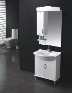 Floor Standing Gloss Painting MDF Bathroom Vanity with Mirror Sw-Y600sw pictures & photos