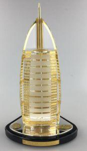 China Custom Dubai Gifts Burj Al Arab Crystal and Gold ...