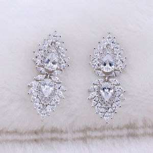 925 Sterling Silver Cz Earring Jewelry Factory Direct Price