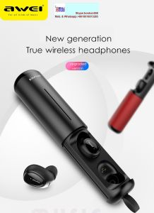 8edca33d7a3 Awei Sweatproof Bluetooth Wireless Sports Headphone Earbuds with Charging  Dock