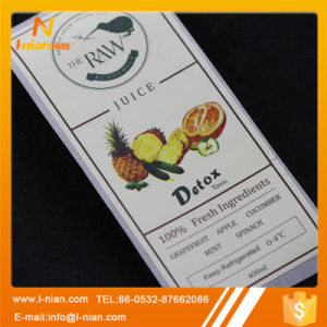 Custom Self Adhesive Soft Drink Juice Bottle Label
