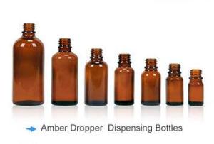 Amber Dropper Dispensing Bottle Boston Round