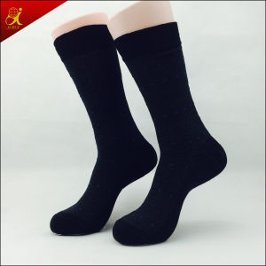 Black Man Polyester Dress Socks Custom Made