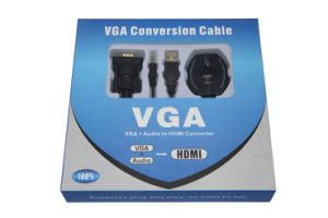 VGA+Audio+USB to HDMI Converter Cable pictures & photos