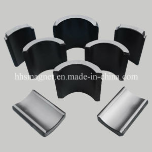 Sintered Ferrite Arc Segments Magnet Used in Motor pictures & photos