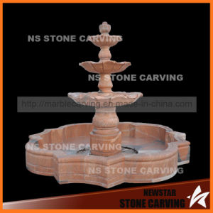 "118"" Natural Red Marble 3 Tiers Water Fountains pictures & photos"