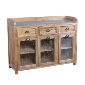 Custom Made Salvaged Solid Reclaimed Wood Kitchen Cabinets