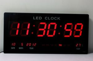 China Ultrathin Big LED Digital Wall Clock LED Display China Led