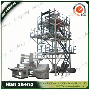 Three Layers Co-Extrusion Film Blowing Process Machine for PE Film 45-2-55-1-1600