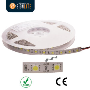 Manufacturer 300LEDs/ 60LED/M IP64 Epoxy Resin Waterproof Warm White SMD5050 Flexible LED Light Strip pictures & photos