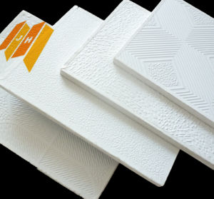 Fire-Proof Plaster Gypsum Ceiling Tile (best price of 7mm) pictures & photos
