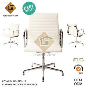 White Leather Ergonomic Swivel Chair (GV-EA108) pictures & photos