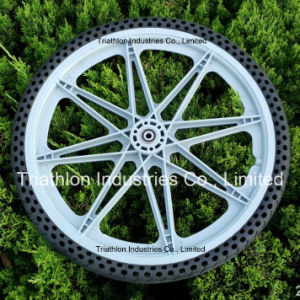 "12"" 16"" 20"" Plastic Bicycle Wheel with Flat Free Tire"