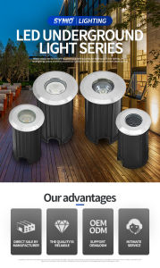 CE, RoHS Approved IP67 LED Garden Underground Light AC/DC24V