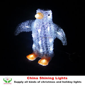 Penguin Motif Christmas Lights White LED Color