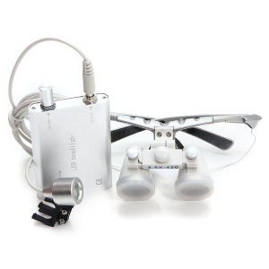 Dental LED Head Light Lamp with Dental Binocular Loupes-Alisa pictures & photos