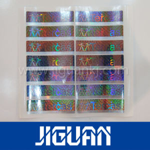 UV Fluorescence Hidden Text Paper Warranty Hologram Security Label pictures & photos