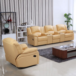Living Room Recliner Sofa Set With Cup Holder And Storage Box