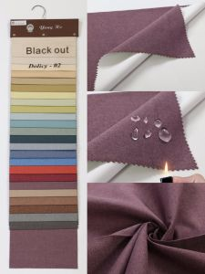 Textile Woven Waterproof Fr Coated Blackout Window Curtain Fabric for Ready-Made Curtain