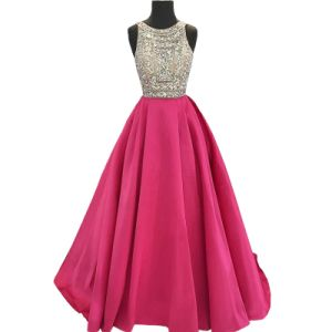Beaded Jewelry Evening Dress Sleeveless Purple Real Wedding Party Dress E13231 pictures & photos