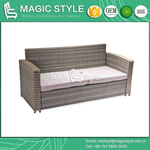 Outdoor Kd Sofa with Cushion Garden 2-Seater Sofa pictures & photos