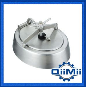 Sanitary Stainless Steel Elliptical Pressure Manhole Cover/Manway pictures & photos