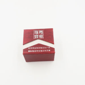 Factory Price Diamond Jewel Ring Box with Silk Screened Printing (J11-A1) pictures & photos