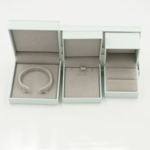 Flannelette Lint Flocking Plastic Jewelry Jewellery Box (J70-E2) pictures & photos