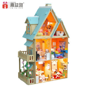 China 2017 New Design Wooden Small Doll House Toy China Diy