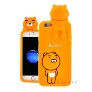 3D Cartoon Bear Silicone Phone Case for Huawei P9lite P9plus J7prime J2prime Mobile Phone Cover (XS-G130)