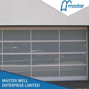China Sf40s Aluminium Double Doors Garage Doors - China Glass Garage ...