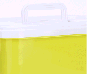 Hot Sale Household Plastic Products Transparent Plastic Storage Box Food Container Gift Box with Handles (20L) pictures & photos