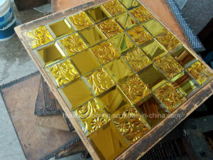Gold Mosaic Tile Diamond Mirror Mosaic (HD070) pictures & photos