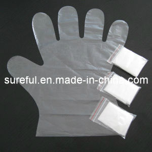 PE Disposable Gloves/PE Exam Disposable Glove pictures & photos