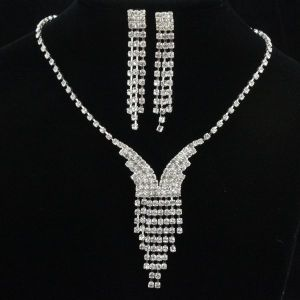 China Fashion New Design Jewelry Diamond Set With Earring And