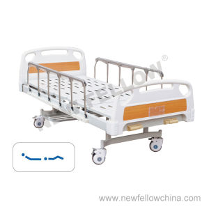 Manual Double Crank Medical Hospital Bed