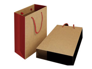 Fancy Kraft Paper Shoes Bag (FB2001) pictures & photos
