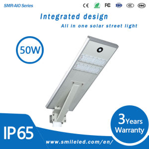 Factory Price 30W 40W 50W Integrated Outdoor All in One Solar Street Light LED Lamp for Highway Lighting