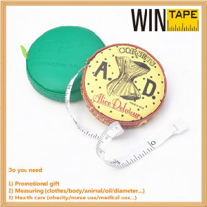 60inch/150cm Mini Leather Advertised Gift Measuring Tape Factory with OEM Service pictures & photos