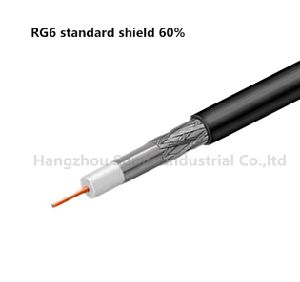 Coaxial Cable RG6 Standard Shield pictures & photos