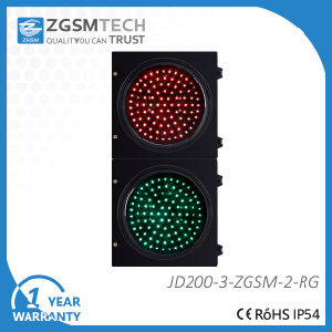 Dia. 200mm LED Traffic Light Red Green Ball