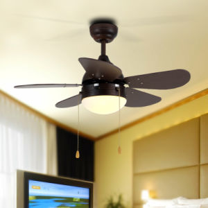 Wooden Blades Mini Fans Decorative 30inch Led Kids Ceiling Light With Remote Control