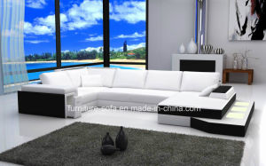 Home Furniture White Sectional Low Back Sofa with Lockers (SF101)