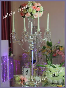Home Decoration Crystal Candelabra and Flower Stand
