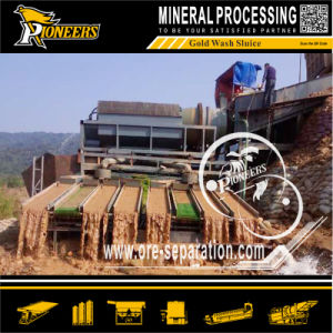 Alluvial Gold Sand Ore Washing Machine Trommel and Sluice Plant