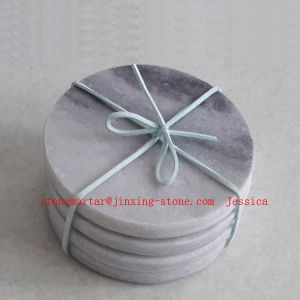Round Grey Marble Dirnk Coaster /Stone Drink Coaster pictures & photos