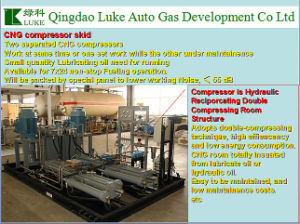 Luke Hydraulic Piston Reciprocating Compressor for CNG Filling Station